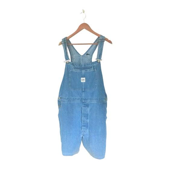 Men Overall Shorts Denim Overall Dungaree Blue Jea