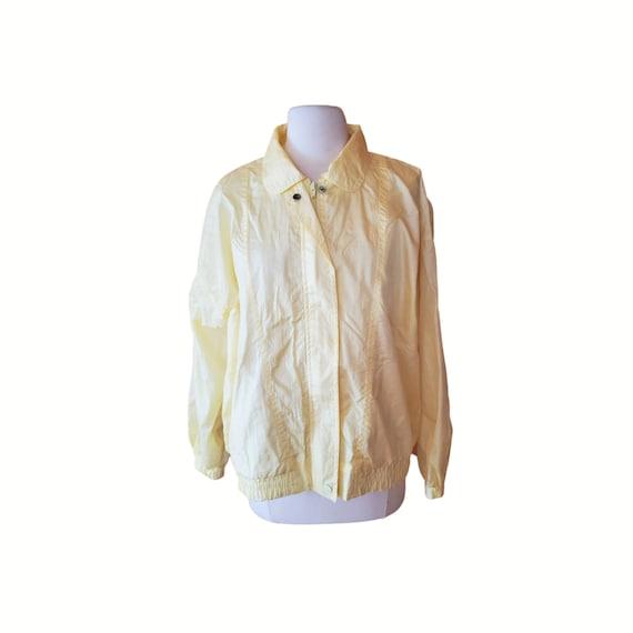 Vintage Yellow Windbreaker Pastel Windbreaker Wome