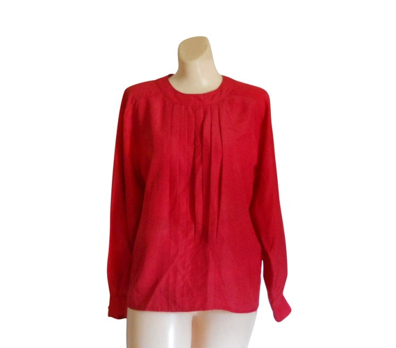 Rote Bluse rot Shirt rot Top Langarm Bluse Damen Bluse Frauen Bluse Damen Kleidung Damen Kleidung Frauen Kleidung Frauen Shirt Frauen Top Sekretär