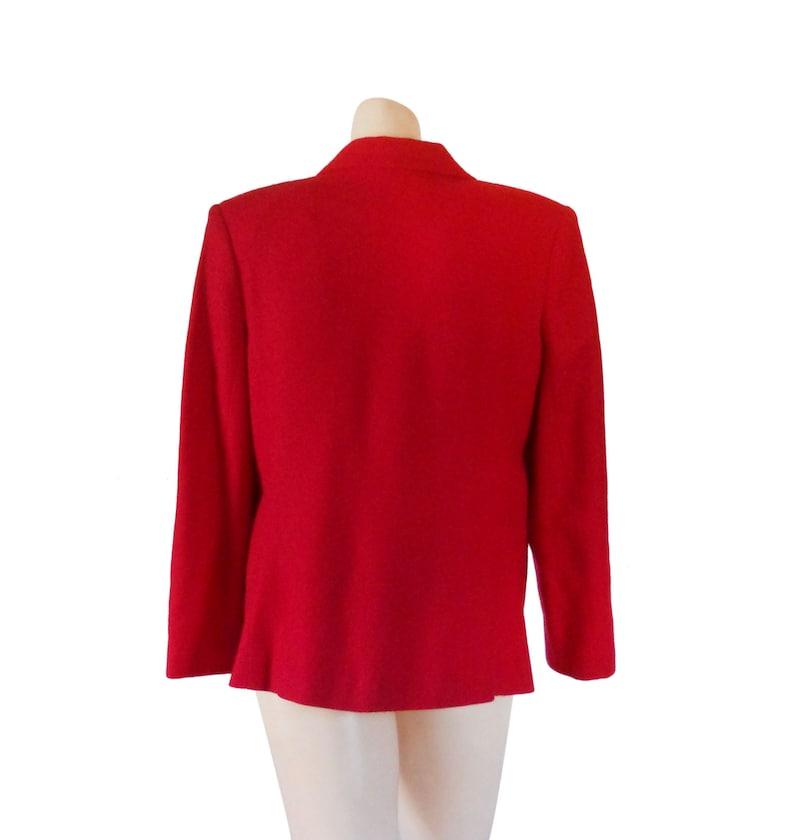 Women Red Blazer Wool Blazer Women Christmas Clothing Christmas Clothes Women Blazer Jacket Ladies Blazer Ladies Clothing Sag Harbor Vintage