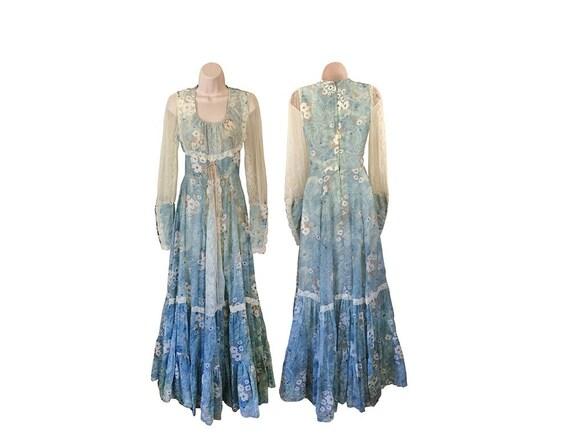 Gunne Sax Kleid Boho Maxi Kleid Lange Hippie Kleid Hippie Boho Etsy