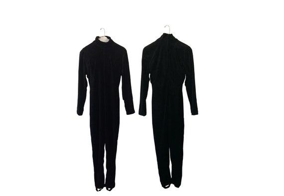Black Jumpsuit Velvet Jumpsuit Velour Jumpsuit One