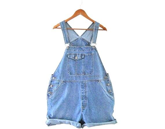 Women Denim Overall Shorts Deadstock Denim Shortal
