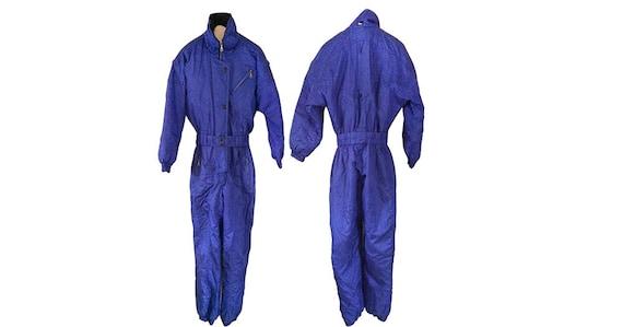 Vintage 80s Ski Suit 80s Snow Suit Purple Snowsuit