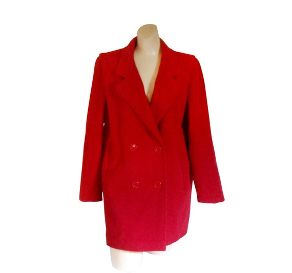 Rote Wolle Mantel Frauen Wolle Mantel Wolle Wintermantel Damen Etsy