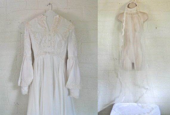 60s Wedding Dress 60s Wedding Gown Beaded Wedding