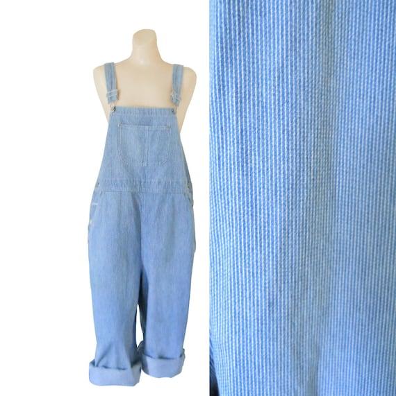 Women Overall Denim Overall Shorts Train Stripe Ov