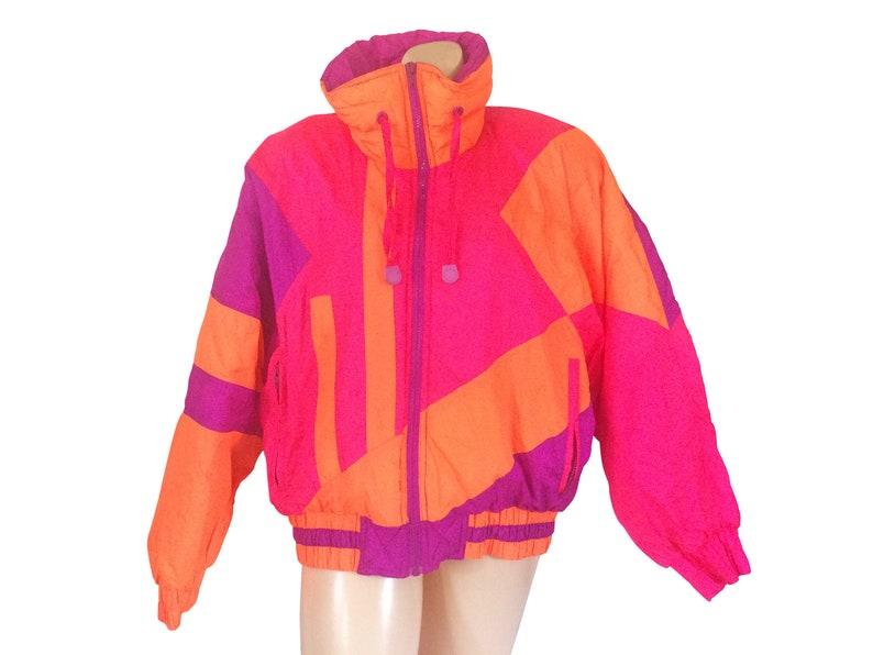 ac8317aef 80s Ski Coat 80s Ski Jacket Neon Ski Jacket Retro Ski Jacket Retro Ski Gear  Ski Wear Purple Coat Women Winter Coat 80s Jacket Women Puff