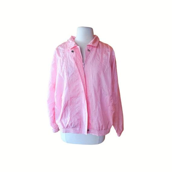 Vintage Pink Windbreaker Pastel Windbreaker Women