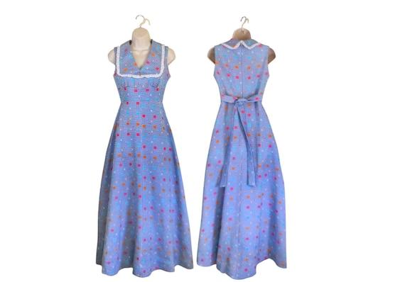 Vintage 1960s Dress 60s Maxi Dress Day Dress Casua