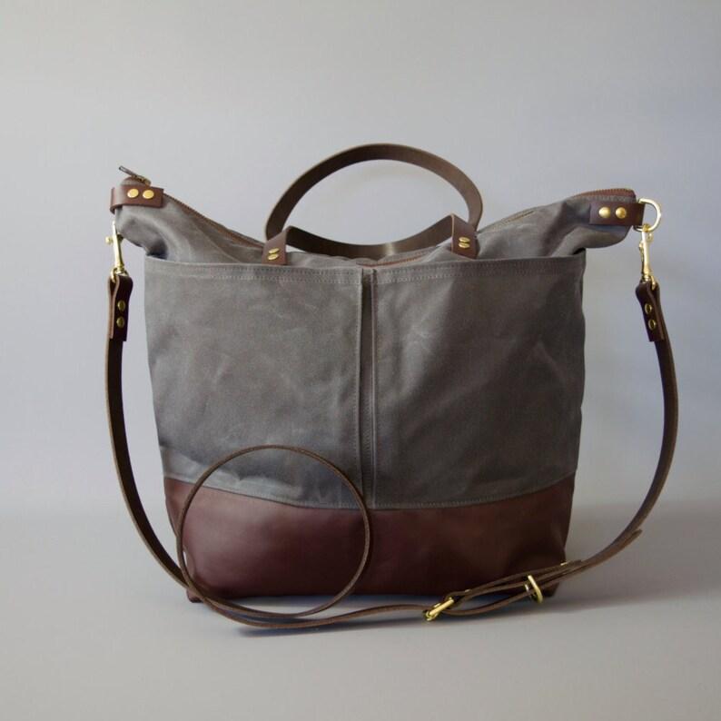 Leather Diaper Bag market bag changing bag backpack option image 0