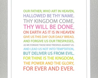 LORDS PRAYER - Multicolor- 8x10