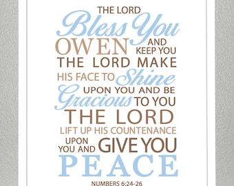 baby dedication gift - Numbers 6:24-26  - Print