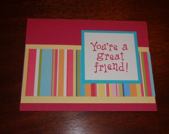 """Set of 7 Note Cards Greeting Cards """"You're a Great Friend!"""""""