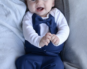 577440aaf Baby Blue Suit... Infant wedding outfit...Ring Bearer...Blue baby wedding