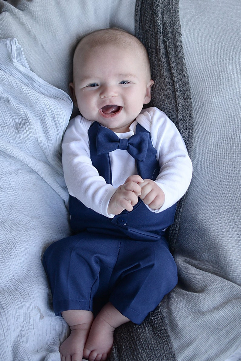a9614080f Baby Wedding.. Baby Blue Suit... Infant wedding outfit