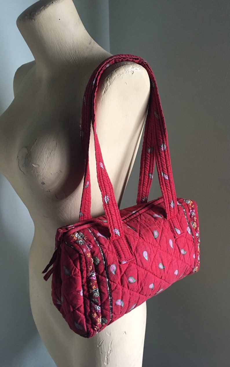 ee401ebfdb Vera Bradley Inspired Red and Pink Floral Paisley Quilted