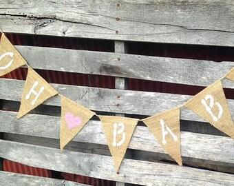 Oh Baby Burlap Banner, Burlap Baby Shower Decorations, Baby Burlap Banner, Burlap Baby Shower Decorations, Baby Banner, Baby Burlap Banner,