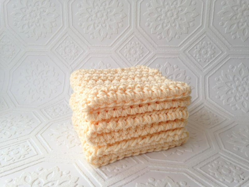 Eco-friendly Washcloths Cotton Washcloths Crochet image 0