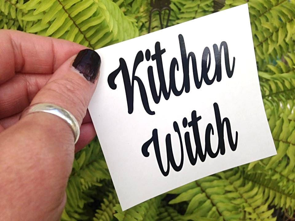 Kitchen Witch Vinyl Decal, Kitchen Witch, Instant Pot Decal, Gifts for Her, Halloween Decal, Vinyl Decal, Coffee Mug Decal, DIY Decal