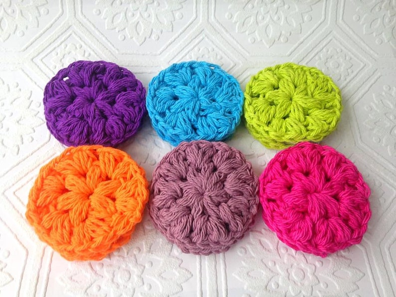 Colorful Cotton Face Scrubby Handmade Reusable Face Pads image 0