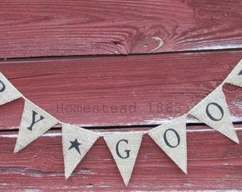Primitive Dry Goods Sign, Burlap Banner, Pantry Sign, Rustic Home Decor,  Farmhouse Sign, Prim Kitchen Banner, Prim Star
