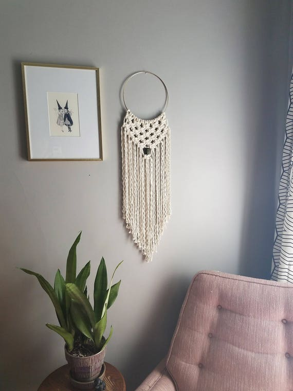 Small Macrame Dream Catcher Fiber Art Modern Macrame Boho