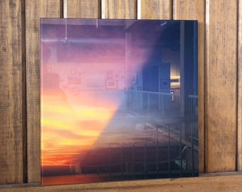 Without Darkness Light Cannot Exist - Glass Print of a Cleveland Sunset