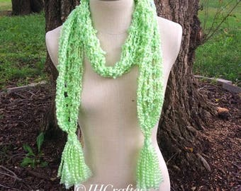 Neon Green Fuzzy Scarf