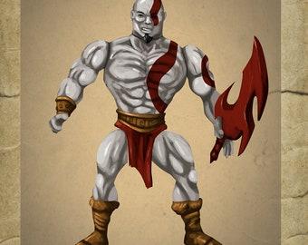 God of War Kratos Bootleg Toy - Greeting Card