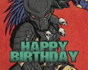 Predator Birthday Card