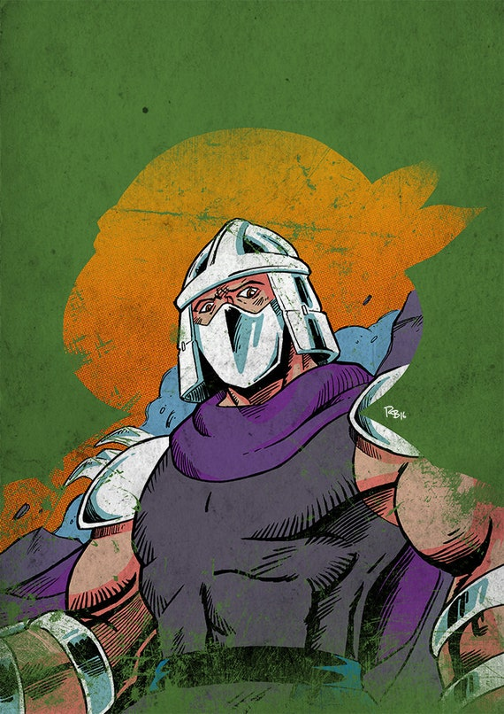 Teenage Mutant Ninja Turtles Shredder A3 Print Etsy