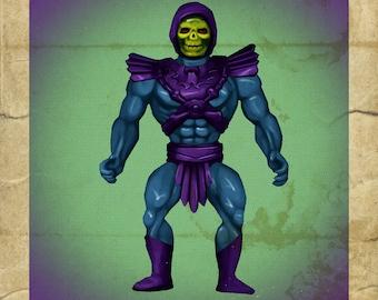 Skeletor Toy - Greeting Card