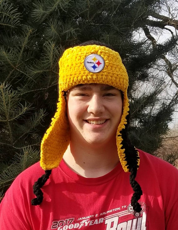 47a1c338d61 Pittsburgh Steelers hat Steelers aviator hat Steelers bomber