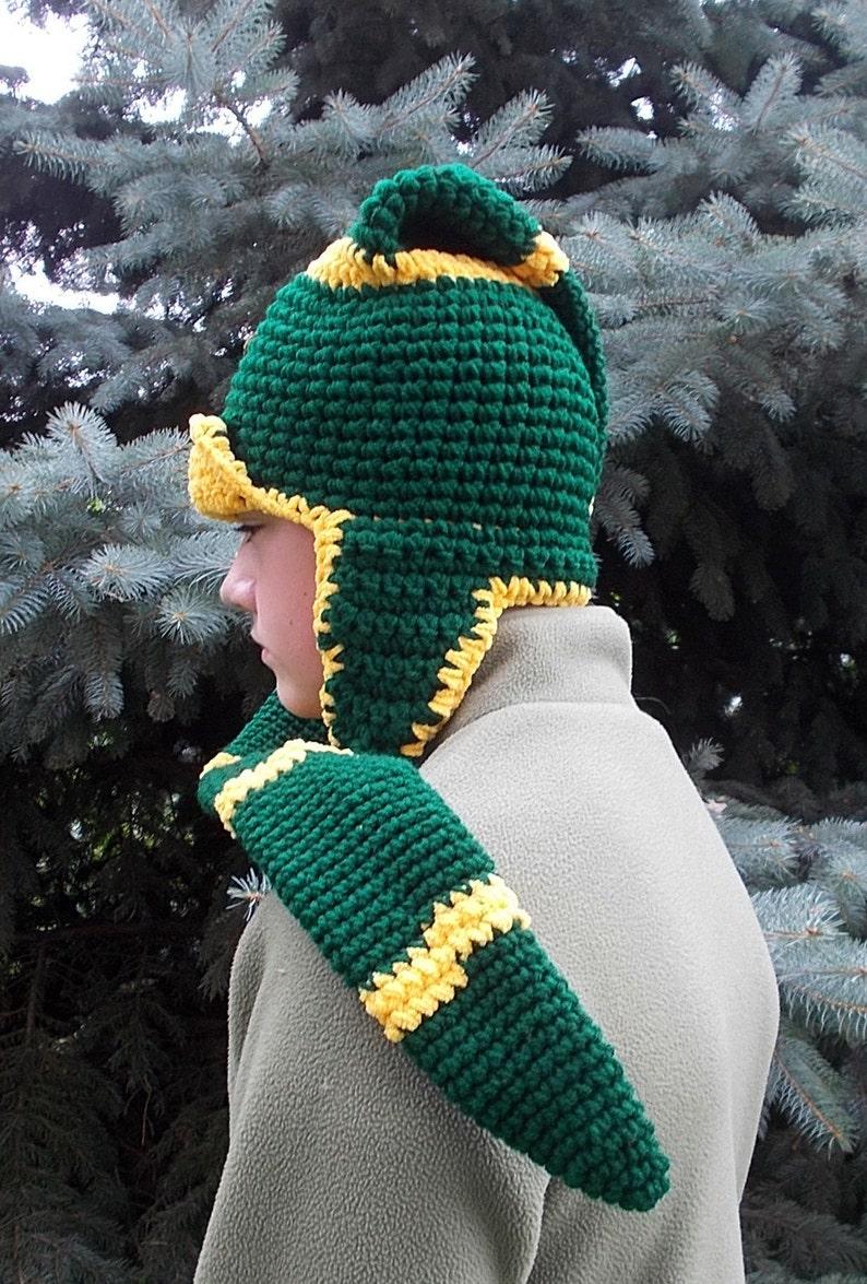 fa6b96ed49278 Packers Long Stocking Hat-Scarf combo Green Bay Long Stocking | Etsy