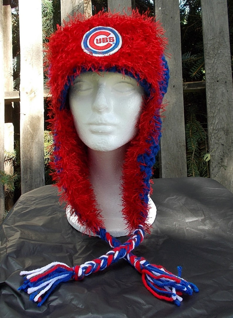 Ladies  Chicago Cubs Fuzzy Lumberjack Hat cubs Trapper hat  a06d92942c47