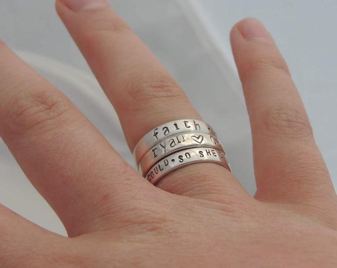Custom Engraved Stacking Ring