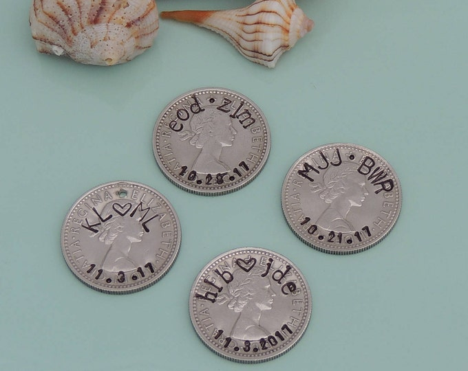 Personalized Lucky Sixpence Coin