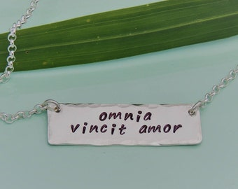 NEW! Omnia Vincit Amor Necklace - Love Conquers All Necklace