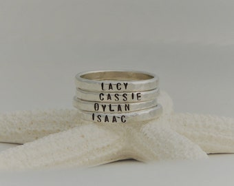 Sterling Silver Name Rings