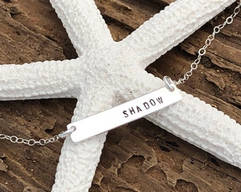 Skinny Bar Necklace - Sterling Silver