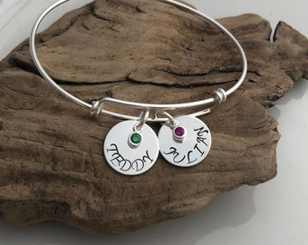 CUSTOM Name Bangle Bracelet