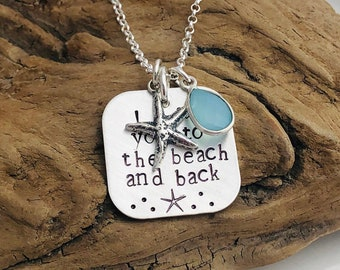 Beach and Back Necklace - Sterling Silver