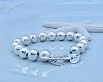 Sterling 10mm Bead Bracelet
