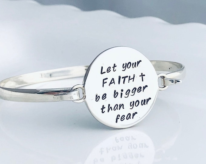 Featured listing image: Let your FAITH be bigger than your fear Bracelet