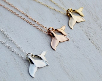 Mommy & Me Whale Tail Necklace