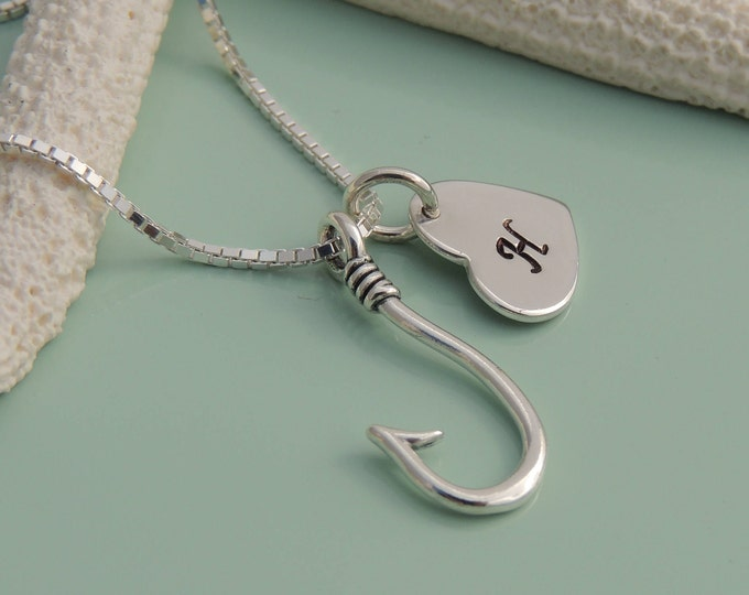 Personalized Fish Hook Necklace
