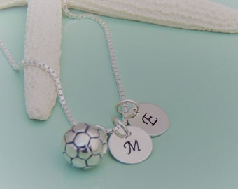 Custom Soccer Initial Necklace