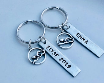Personalized Swimming Key Chain
