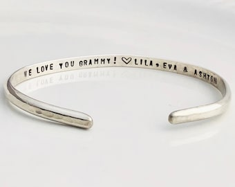 Custom Secret Message Cuff Bracelet